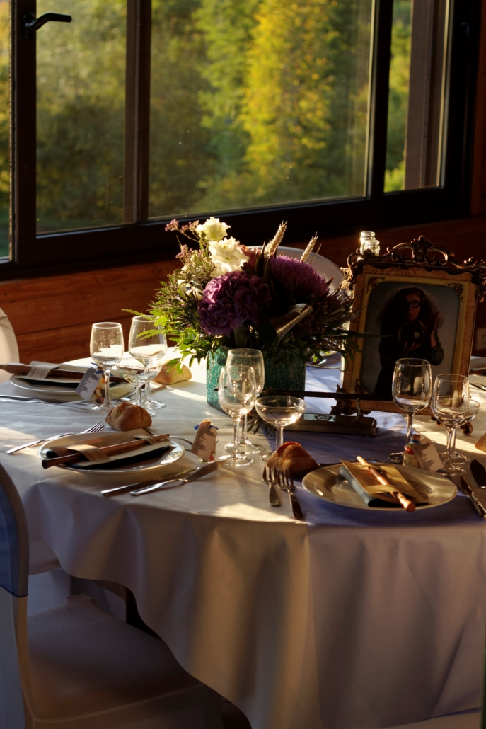 Photo table dressée mariage
